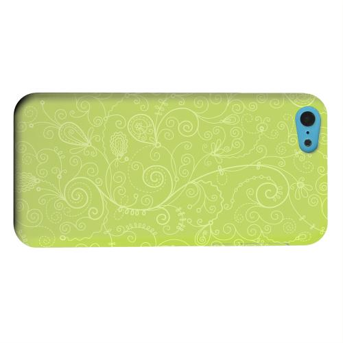 Geeks Designer Line (GDL) Apple iPhone 5C Matte Hard Back Cover - Floral 1 Tender Shoots