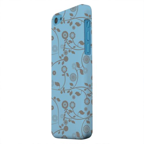 Geeks Designer Line (GDL) Apple iPhone 5C Matte Hard Back Cover - Floral 2 Dusk Blue