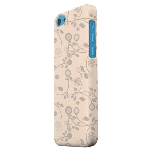 Geeks Designer Line (GDL) Apple iPhone 5C Matte Hard Back Cover - Floral 2 Linen