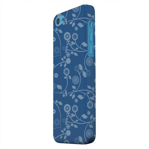 Geeks Designer Line (GDL) Apple iPhone 5C Matte Hard Back Cover - Floral 2 Monaco Blue