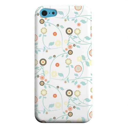 Geeks Designer Line (GDL) Apple iPhone 5C Matte Hard Back Cover - Floral 2 Multi-colored