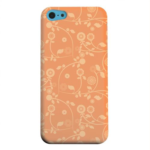 Geeks Designer Line (GDL) Apple iPhone 5C Matte Hard Back Cover - Floral 2 Nectarine