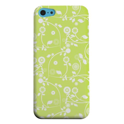 Geeks Designer Line (GDL) Apple iPhone 5C Matte Hard Back Cover - Floral 2 Tender Shoots