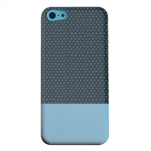 Geeks Designer Line (GDL) Apple iPhone 5C Matte Hard Back Cover - Little Circle Dots Dusk Blue