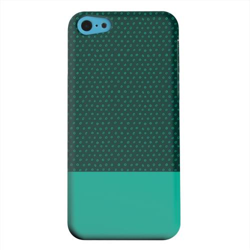 Geeks Designer Line (GDL) Apple iPhone 5C Matte Hard Back Cover - Little Circle Dots Emerald