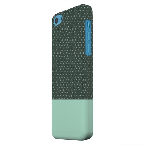 Geeks Designer Line (GDL) Apple iPhone 5C Matte Hard Back Cover - Little Circle Dots Grayed Jade