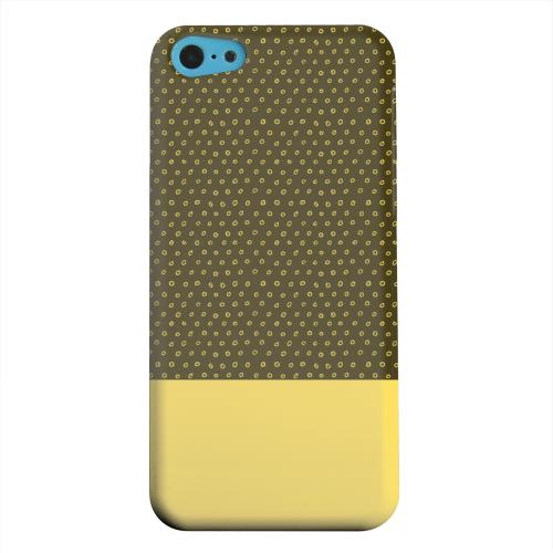 Geeks Designer Line (GDL) Apple iPhone 5C Matte Hard Back Cover - Little Circle Dots Lemon Zest