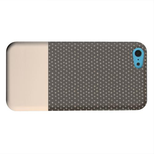 Geeks Designer Line (GDL) Apple iPhone 5C Matte Hard Back Cover - Little Circle Dots Linen