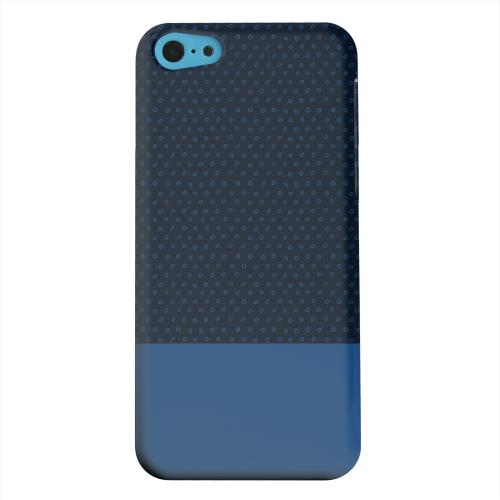 Geeks Designer Line (GDL) Apple iPhone 5C Matte Hard Back Cover - Little Circle Dots Monaco Blue