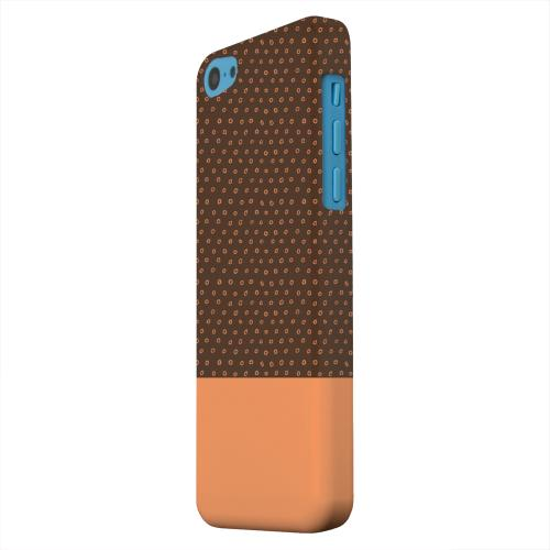 Geeks Designer Line (GDL) Apple iPhone 5C Matte Hard Back Cover - Little Circle Dots Nectarine