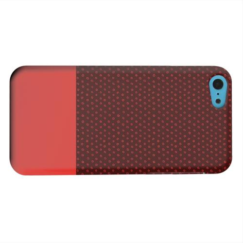 Geeks Designer Line (GDL) Apple iPhone 5C Matte Hard Back Cover - Little Circle Dots Poppy Red