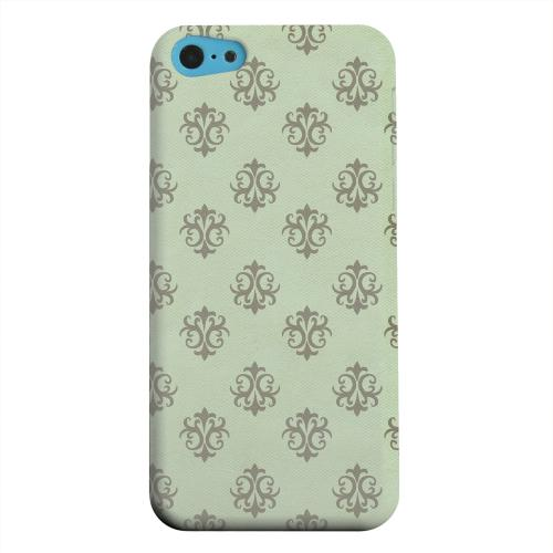 Geeks Designer Line (GDL) Apple iPhone 5C Matte Hard Back Cover - Ornamental Grayed Jade