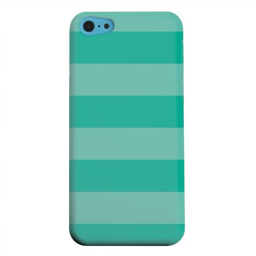 Geeks Designer Line (GDL) Apple iPhone 5C Matte Hard Back Cover - Stripes Emerald