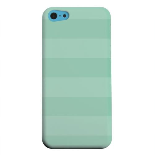Geeks Designer Line (GDL) Apple iPhone 5C Matte Hard Back Cover - Stripes Grayed Jade