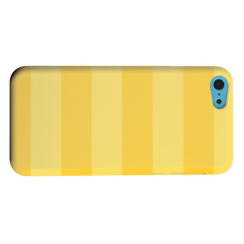 Geeks Designer Line (GDL) Apple iPhone 5C Matte Hard Back Cover - Stripes Lemon Zest
