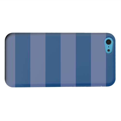 Geeks Designer Line (GDL) Apple iPhone 5C Matte Hard Back Cover - Stripes Monaco Blue