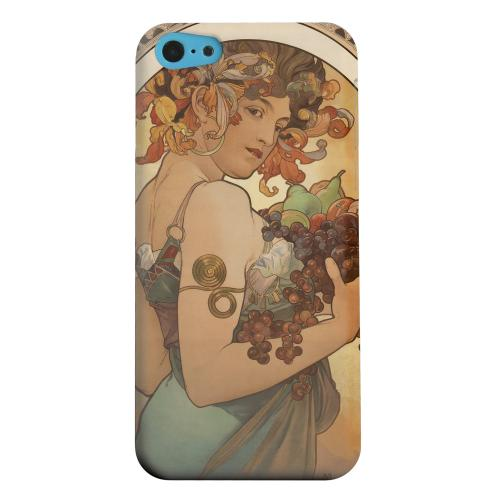 Geeks Designer Line (GDL) Apple iPhone 5C Matte Hard Back Cover - Alphonse Mucha Fruit