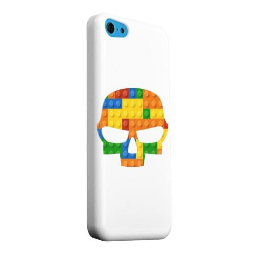 Geeks Designer Line (GDL) Apple iPhone 5C Matte Hard Back Cover - Blocks Fatskull