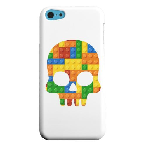 Geeks Designer Line (GDL) Apple iPhone 5C Matte Hard Back Cover - Blocks Skull