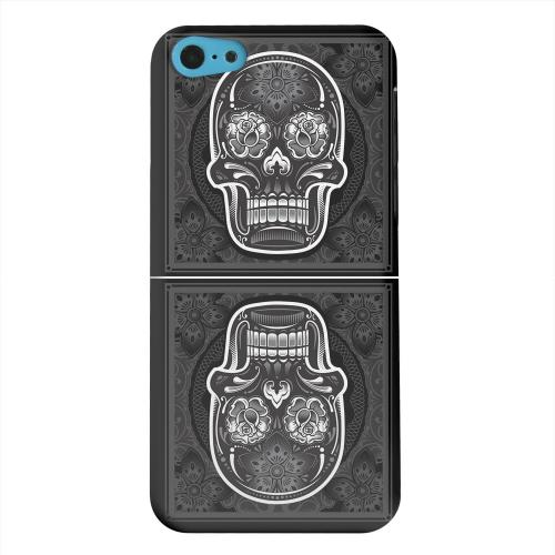 Geeks Designer Line (GDL) Apple iPhone 5C Matte Hard Back Cover - Domino Double Skull