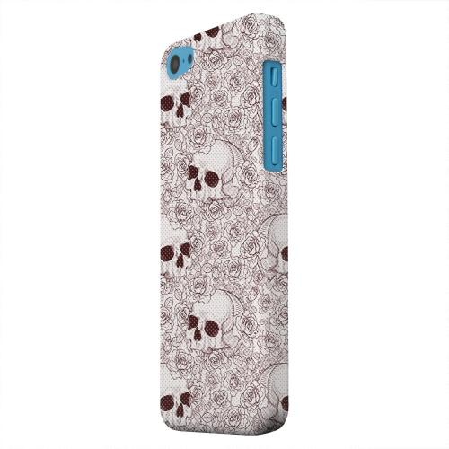 Geeks Designer Line (GDL) Apple iPhone 5C Matte Hard Back Cover - Thorn Skull Red Halftone