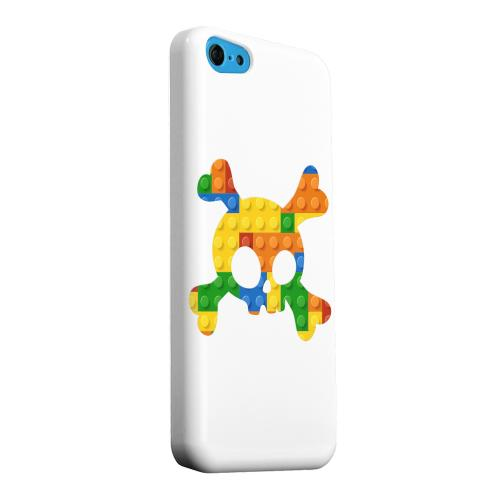 Geeks Designer Line (GDL) Apple iPhone 5C Matte Hard Back Cover - Blocks Crossbones