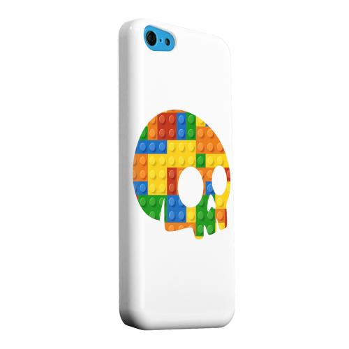 Geeks Designer Line (GDL) Apple iPhone 5C Matte Hard Back Cover - Blocks Side Skull
