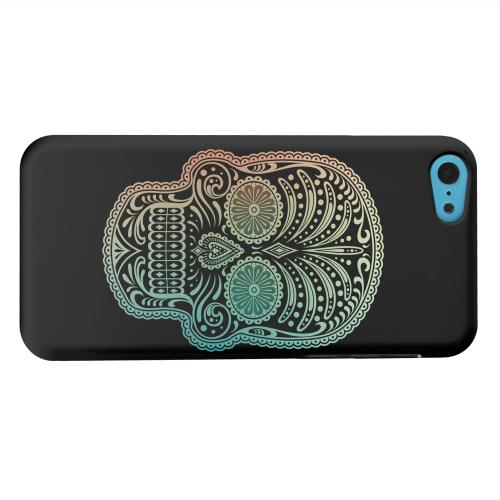 Geeks Designer Line (GDL) Apple iPhone 5C Matte Hard Back Cover - Dia De Los Muertos Blue Red Fade