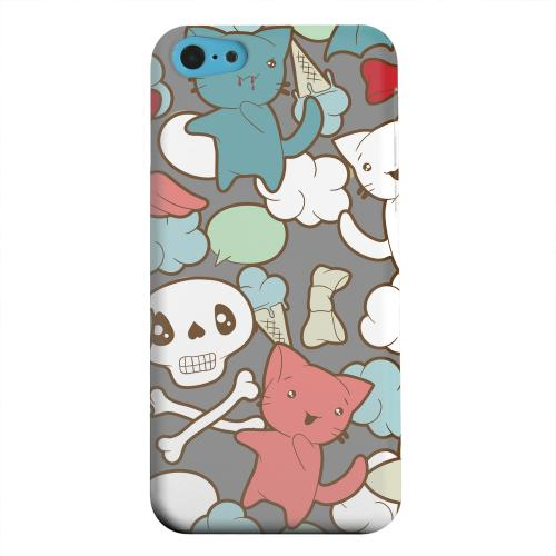 Geeks Designer Line (GDL) Apple iPhone 5C Matte Hard Back Cover - Hello Neko Skull