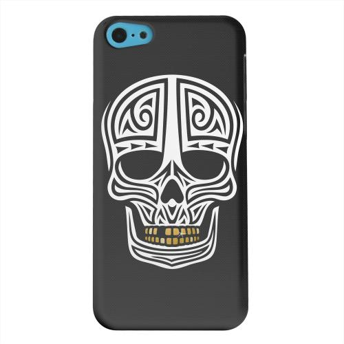 Geeks Designer Line (GDL) Apple iPhone 5C Matte Hard Back Cover - Rapero Muerto on Dark Mesh Dot