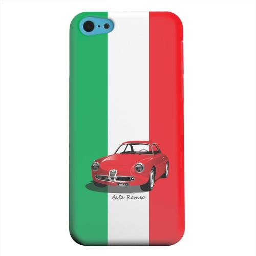 Geeks Designer Line (GDL) Apple iPhone 5C Matte Hard Back Cover - Red Alfa Romeo on Green/ White/ Red