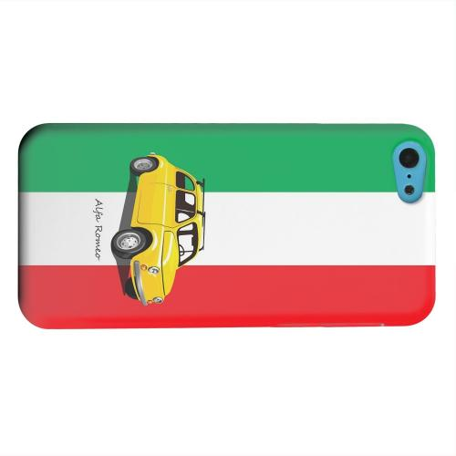 Geeks Designer Line (GDL) Apple iPhone 5C Matte Hard Back Cover - Yellow Alfa Romeo on Green/ White/ Red