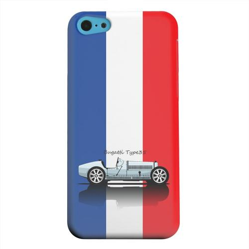 Geeks Designer Line (GDL) Apple iPhone 5C Matte Hard Back Cover - Bugatti Type 35S on Blue/ White/ Red