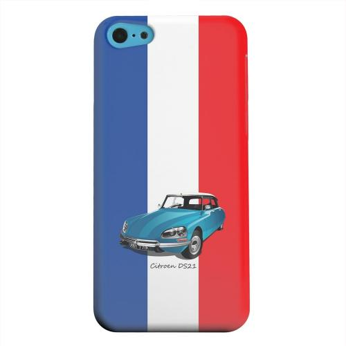 Geeks Designer Line (GDL) Apple iPhone 5C Matte Hard Back Cover - Citroen DS21 on Blue/ White/ Red