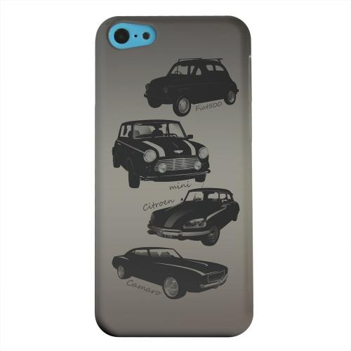 Geeks Designer Line (GDL) Apple iPhone 5C Matte Hard Back Cover - Classic Cars Fiat, Mini, Citroen, & Camaro