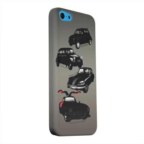 Geeks Designer Line (GDL) Apple iPhone 5C Matte Hard Back Cover - Classic Euro Cars Fade