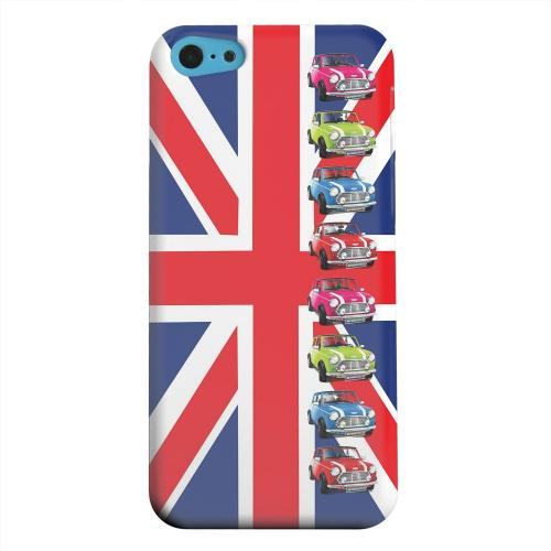 Geeks Designer Line (GDL) Apple iPhone 5C Matte Hard Back Cover - Multi Mini Coopers on Union Jack