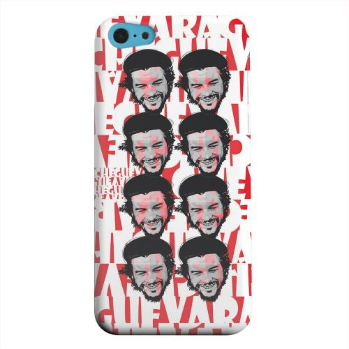 Geeks Designer Line (GDL) Apple iPhone 5C Matte Hard Back Cover - Che Guevara Happy Revolutionary Multi-Face on Red