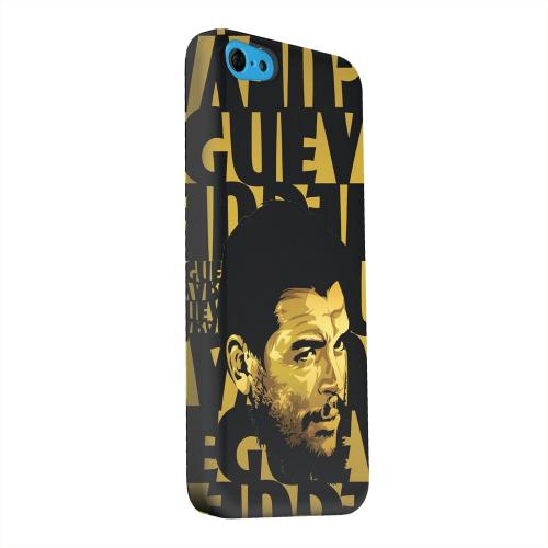 Geeks Designer Line (GDL) Apple iPhone 5C Matte Hard Back Cover - Che Guevara Serious Man on Gold
