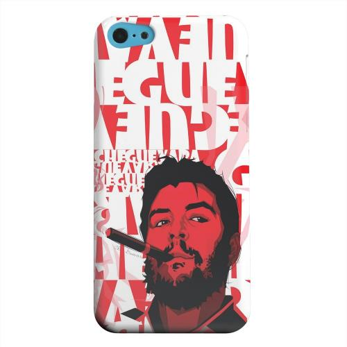 Geeks Designer Line (GDL) Apple iPhone 5C Matte Hard Back Cover - Che Guevara Smoke Red