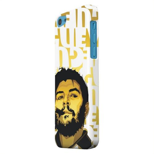 Geeks Designer Line (GDL) Apple iPhone 5C Matte Hard Back Cover - Che Guevara Smoke White Letters on Gold