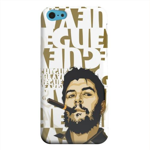 Geeks Designer Line (GDL) Apple iPhone 5C Matte Hard Back Cover - Che Guevara Smoke White Letters