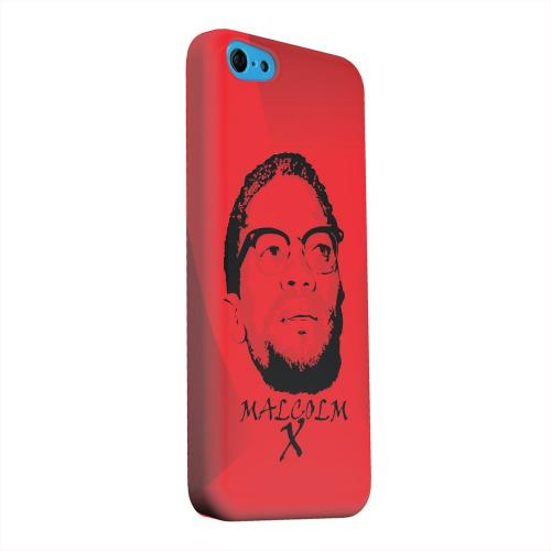 Geeks Designer Line (GDL) Apple iPhone 5C Matte Hard Back Cover - Malcolm X in the Middle on Red