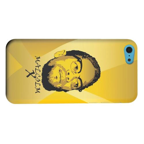 Geeks Designer Line (GDL) Apple iPhone 5C Matte Hard Back Cover - Malcolm X in the Middle on Yellow