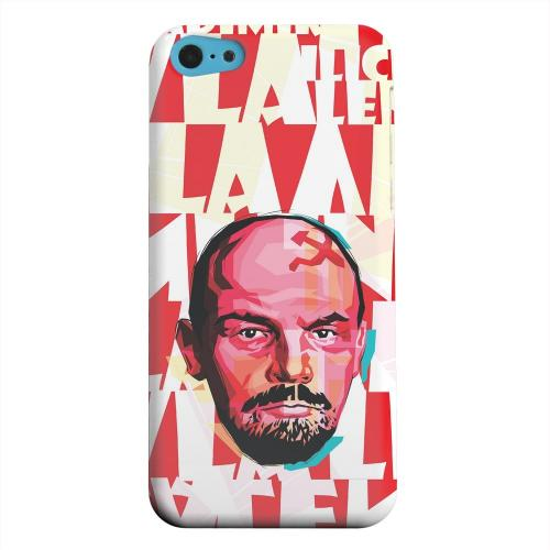 Geeks Designer Line (GDL) Apple iPhone 5C Matte Hard Back Cover - Lenin Complex on Red