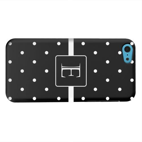Geeks Designer Line (GDL) Apple iPhone 5C Matte Hard Back Cover - Monogram E on Classic Mini Polka Dots