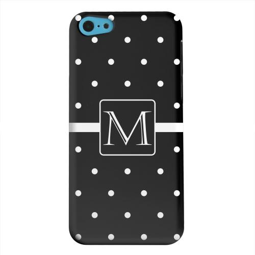 Geeks Designer Line (GDL) Apple iPhone 5C Matte Hard Back Cover - Monogram M on Classic Mini Polka Dots