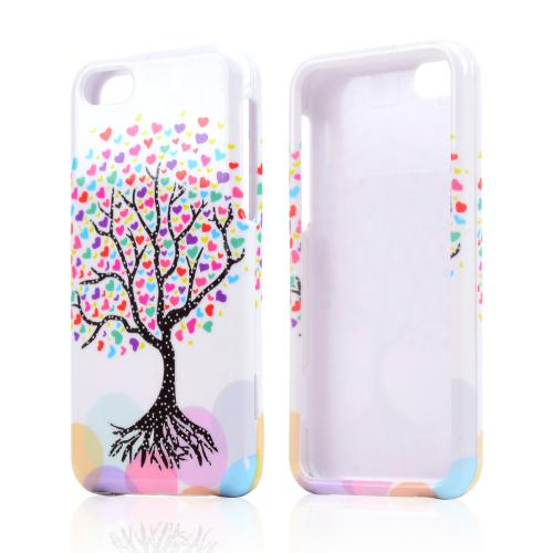 Love Heart Tree on White Hard Case for Apple iPhone 5C