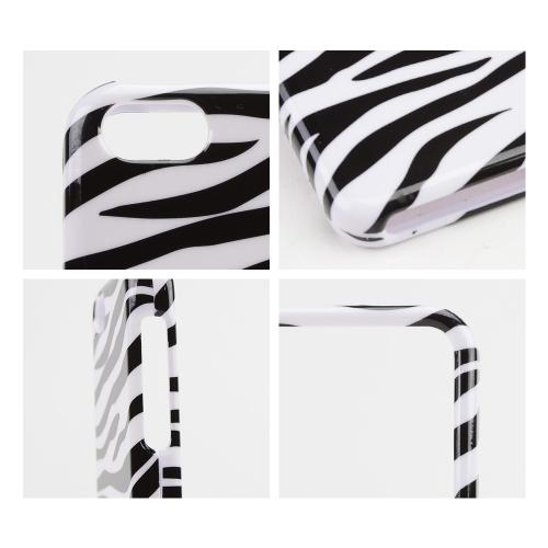 Black Zebra on White Hard Case for Apple iPhone 5C
