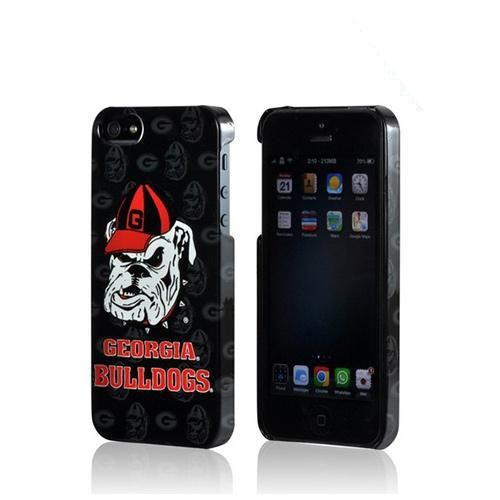Apple iPhone SE / 5 / 5S Hard Case, NCAA LIcensed [Georgia Bulldogs]  Slim & Protective Crystal Glossy Snap-on Hard Polycarbonate Plastic Case Cover